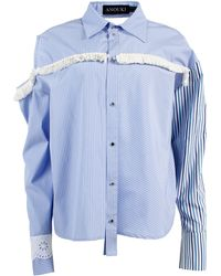 ANOUKI - Striped Fringe Shirt - Lyst