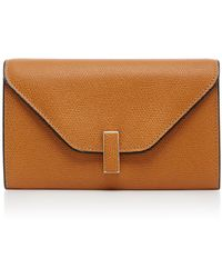 Valextra - Iside Small Leather Wallet - Lyst