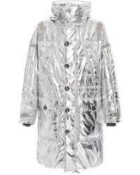 Ralph Lauren - Oversized Metallic Foiled-shell Puffer Coat - Lyst