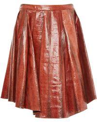 Marina Moscone - Leather Mini Skirt - Lyst