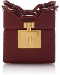 Oscar de la Renta - Alibi Cube Leather Bag - Lyst