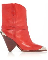 Isabel Marant - Lamsy Calfskin Boots - Lyst