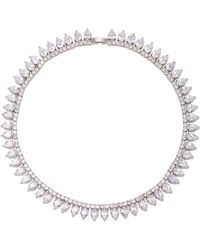 Fallon - Monarch Pointed Choker - Lyst