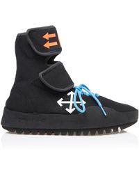 Off-White c/o Virgil Abloh - Moto Neoprene Sneakers - Lyst