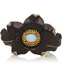 Silvia Furmanovich - Sculptural Botanical Marquetry Flower Bracelet - Lyst