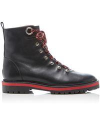 Aquazzura - Leather Hiker Boots - Lyst
