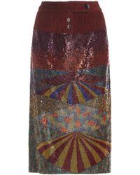 Rahul Mishra - Gouden Sequin Skirt - Lyst