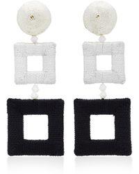 Oscar de la Renta - Double Square Wrapped Earrings - Lyst
