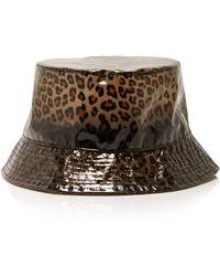 Federica Moretti - Leopard-print Cloche Hat - Lyst