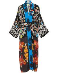 Rianna + Nina - Greek Silk Printed Kimono - Lyst