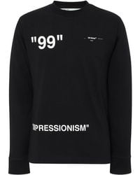 Off-White c/o Virgil Abloh - Impressionism Printed Cotton-jersey T-shirt - Lyst