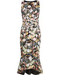 Peter Pilotto - Kia Flared Floral-print Cady Dress - Lyst