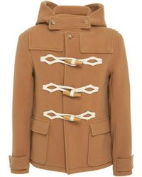 JW Anderson - Toggle-Embellished Wool Hooded Coat - Lyst