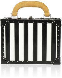 Bertoni 1949 - Spazzolato Stripes Squared Bertoncina Bag - Lyst