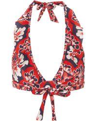 LaDoubleJ - Rouches Ruffled Bikini Top - Lyst