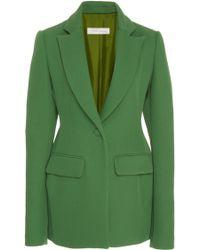 Marina Moscone - Basque Cotton-blend Blazer - Lyst