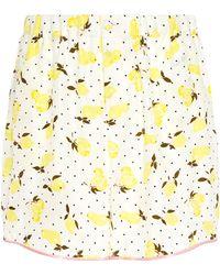 Piamita - Bettie Silk Lemon Print Pajama Shorts - Lyst