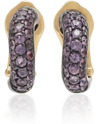 Gioia - 18k Gold And Purple Sapphire Earrings - Lyst