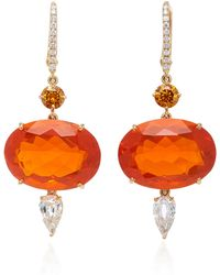 Sidney Garber - Orange Fire Opal Shimmers Earrings - Lyst