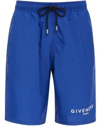Givenchy - Logo Printed Swim Shorts - Lyst
