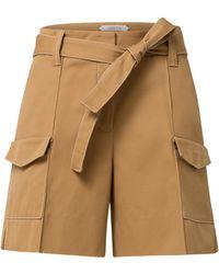 Dorothee Schumacher - Belted Cotton Shorts - Lyst