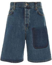 JW Anderson - Two-tone Denim Shorts - Lyst