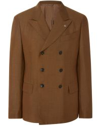 Eidos - Double-breasted Wool And Mohair-blend Blazer - Lyst