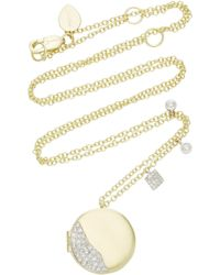Meira T - 14k Gold Diamond Necklace - Lyst