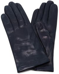 Maison Fabre | Navy Floods Leather Gloves | Lyst
