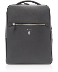 Mark Cross - Alexander Grey Saffiano Leather Backpack - Lyst