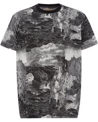 Burberry - Printed Cotton-jersey T-shirt - Lyst