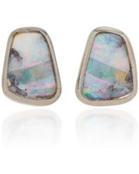 Kimberly Mcdonald - One-of-a-kind Boulder Opal Studs Set In 18k Rose Gold - Lyst