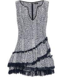 Frederick Anderson - Herringbone Ruffle Dress - Lyst