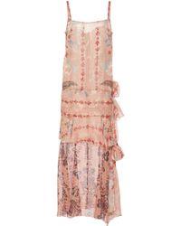 Anna Sui - Feathers & Folage Metallic Jacquard Dress - Lyst