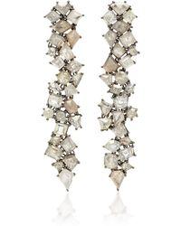 Sylva & Cie - 18k White Gold Diamond Earrings - Lyst