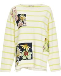 Swash London - Flora Meadow Patched Marinier Top - Lyst