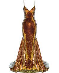 Alex Perry Aldridge Sequin-embellished Gown - Orange