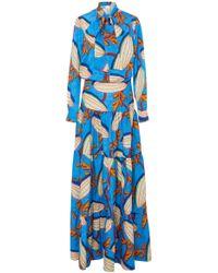 Stella Jean - Printed Crepe Maxi Dress - Lyst