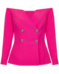 Safiyaa - Kamile Very Berry Jacket - Lyst