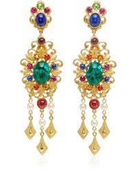 Ben-Amun - Gold-plated Brass Crystal Chandelier Earrings - Lyst