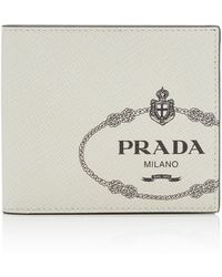 Prada - Logo-printed Textured-leather Wallet - Lyst