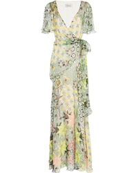 Temperley London - Claudette Ruffled Printed Silk-blend Chiffon Maxi Wrap Dress - Lyst