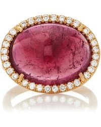 Irene Neuwirth - One-of-a-kind 18k Gold Bi-color Tourmaline Ring - Lyst