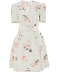 Co. | Belted Floral Jacquard Mini Dress | Lyst