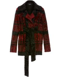 J. Mendel - Chequered Broadtail Fur Coat - Lyst