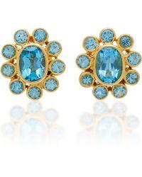 Amrapali - 18k Gold Blue Topaz Earrings - Lyst