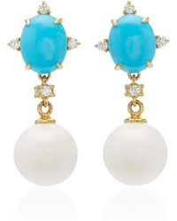 Paul Morelli - Turquoise Oval Drop Earring - Lyst