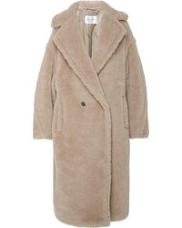 Max Mara Ginnata Alpaca Wool Coat - Brown