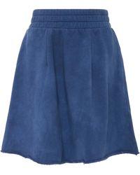 The Elder Statesman - M'o Exclusive Cotton Fleece A-line Skirt - Lyst