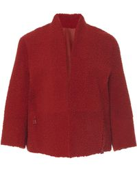 Akris - Donnie Reversible Leather Shearling Jacket - Lyst